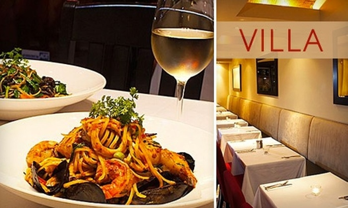 VILLA Restaurant - Swansea: $25 for $50 Worth of Contemporary Italian Cuisine and Drinks at VILLA Restaurant