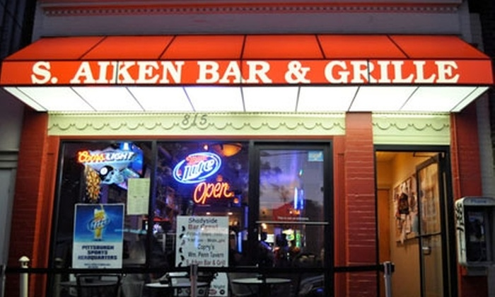 S. Aiken Bar & Grille - Shadyside: $10 for $20 Worth of Classic Pub Fare and Drinks at S. Aiken Bar & Grille