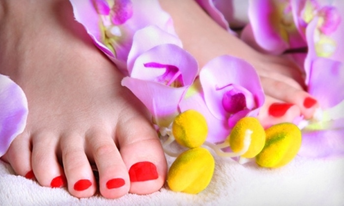 Nails of America - Village At Byers: $12 for a Classic Pedicure ($25 Value) or $20 for a Full Set of Gel Nails ($40 Value) at Nails of America in Mooresville