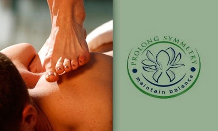 Prolong Symmetry LLC - St Louis: $20 for One Hour of Ashiatsu Oriental Bar Therapy Massage from Prolong Symmetry LLC ($50 Value)