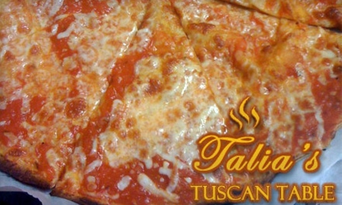 Talia's Tuscan Table - Villa Rica: $7 for $15 Worth of Italian Cuisine and Drinks at Talia's Tuscan Table