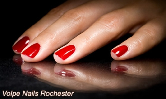Volpe Nails - Webster: $15 for Deluxe Spa Manicure with Shellac Nail-Polish Treatment at Volpe Nails ($35 Value) in Webster