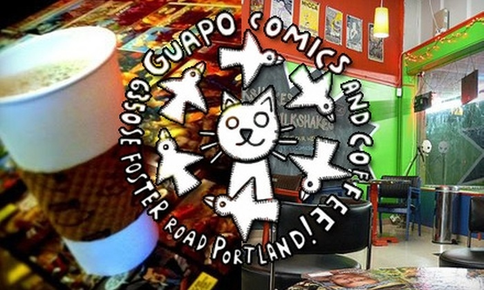 Guapo Comics and Coffee - Mt. Scott - Arleta: $6 for $12 Worth of Caffeination, Cuisine, and Comics at Guapo Comics and Coffee