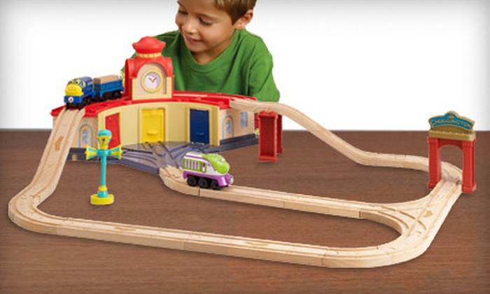 Wooden Railway Set Chuggington Wooden Railway Trainee Set Groupon