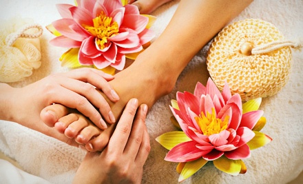 Manicure and Spa Pedicure with Aromatherapy ($85 value) - Europa by Sasha Salon & Spa in Beachwood