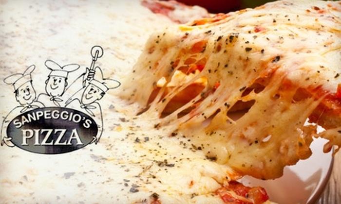 Sanpeggio's Pizza - Multiple Locations: $12 for $25 Worth of Pizza, Pasta, Subs, and More at Sanpeggio's Pizza