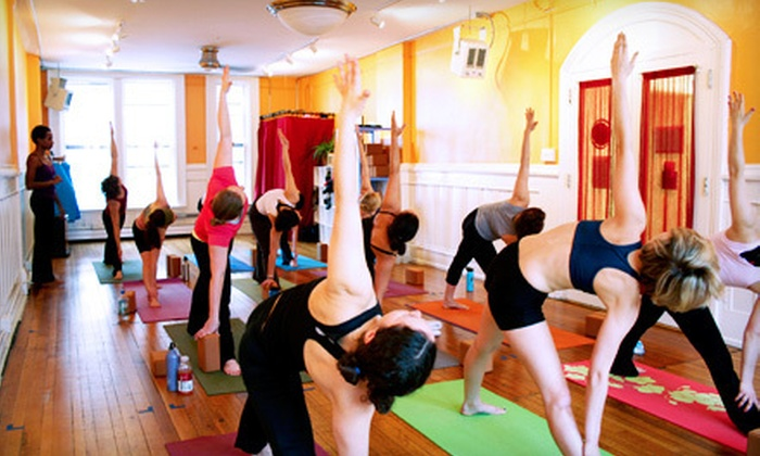 Mighty Yoga - Central Business District,East Ithaca: 10 Classes or One Month of Unlimited Yoga at Mighty Yoga in Ithaca (Up to 91% Off)