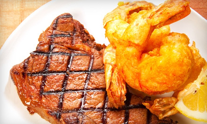 The Silver Flame - Tulsa: Steak-and-Shrimp Dinner for Two or Four at The Silver Flame (Half Off)