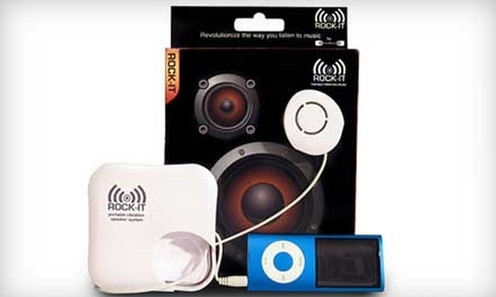 OrigAudio: $20 for One Rock-It Portable Vibration Speaker System from OrigAudio ($49.99 Value)