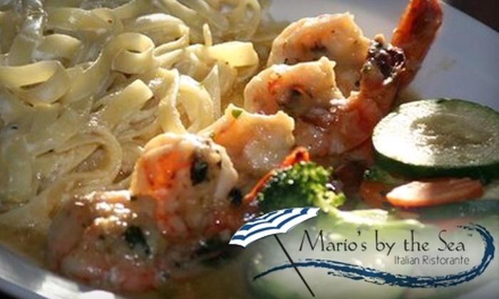 Mario's By The Sea - Dana Point: $15 for $30 Worth of Italian Fare and Drinks at Mario's By The Sea in Dana Point