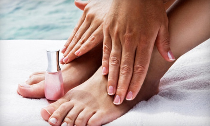 Luxury Nail Spa and Salon - Peabody: One or Three Shellac Manicure and Deluxe Pedicures at Luxury Nail Spa and Salon in Peabody (Up to 67% Off)