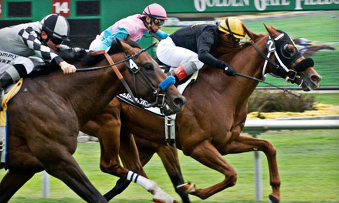 Golden Gate Fields - Berkeley Marina: $15 for Horseracing Outing with Upscale American Cuisine at Golden Gate Fields in Berkeley (Up to $31.50 Value)