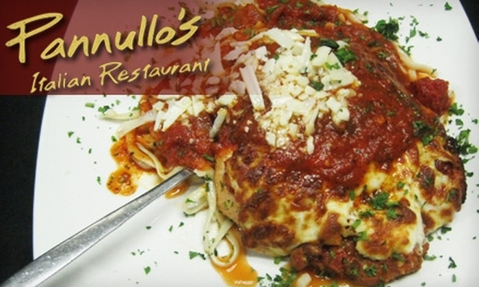 Pannullo's Italian Restaurant - Winter Park: $15 for $30 Worth of Italian Fare and Drinks at Pannullo's Italian Restaurant