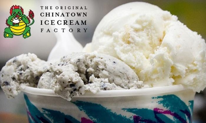 Chinatown Ice Cream Factory - Chinatown: $15 for $30 Worth of Ice Cream at Chinatown Ice Cream Factory