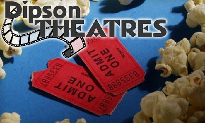 Dipson Theatres - Multiple Locations: $16 for Two Movie Tickets (Up To An $18 Value), Two Medium Drinks ($8 Value), and One Large Popcorn ($7.50 Value) at Dipson Theatres (Up to a $33.50 Value)