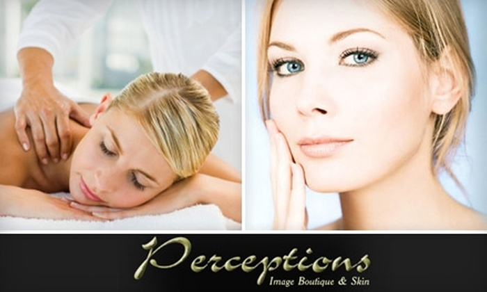 Perceptions Image Boutique & Skin - Sacramento: $135 for Three Laser Hair-Removal Sessions ($336 Value) or $36 for a One-Hour Massage (Up to $90 Value) at Perceptions Image Boutique and Skin