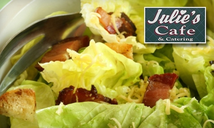 Julie's Cafe & Catering - Multiple Locations: $8 for $16 Worth of Home-Style Comfort Fare or $50 for $100 Worth of Catering at Julie's Café & Catering