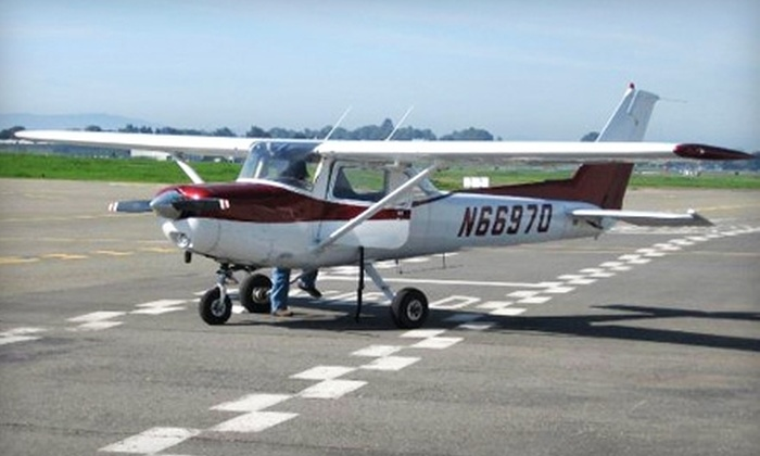 California Airways - Hayward: $149 for a Two-Hour Day or Night Introductory Flight Lesson from California Airways in Hayward ($298 Value)