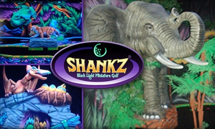 SHANKZ Black Light Miniature Golf - South Westside: $5 for 18 Holes of Black-Light Mini Golf and 3-D Glasses at Shankz Black Light Miniature Golf