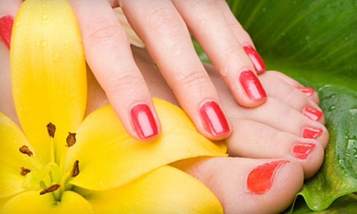 Gossip Salon - Carol Stream: Spa Manicure and Pedicure or Hair Services at Gossip Salon in Carol Stream