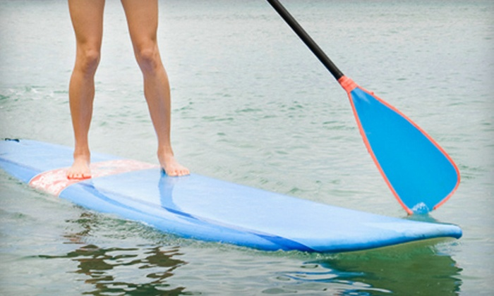 Miami Beach Water Adventures - South Pointe: Guided Paddleboard Tour or Watersports Lesson from Miami Beach Water Adventures (Up to 59% Off)