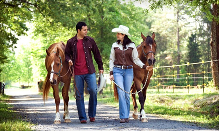 Clear Horizon Horse Ranch - Seguin: $45 for a Couples Horseback-Riding Package with a Box of Chocolates at Clear Horizon Horse Ranch in Seguin ($107 Value)