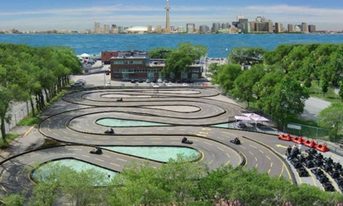 Go-Karts at Polson Pier - Port Lands: $23 for Two 20-Minute Go-Kart Rides at Go-Karts at Polson Pier ($46 Value)