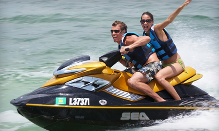 Keys Adventures Watersports - Multiple Locations: Standup-Paddleboarding for Two or Jet-Skiing and Standup-Paddleboarding for Two from Keys Adventures Watersports