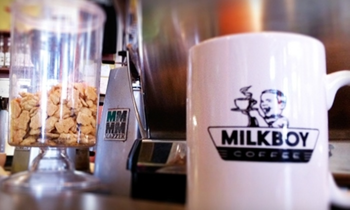 MilkBoy Coffee - Multiple Locations: $5 for $10 Worth of Cafe Fare and Drinks at MilkBoy Coffee