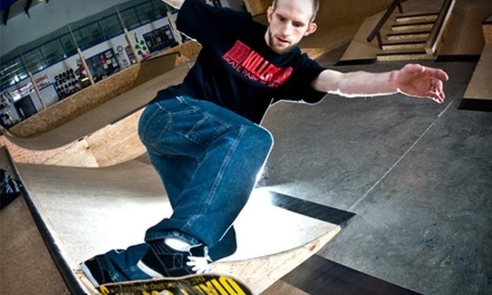 Killer Skate Park & Shop LLC - Evansville: $12 for One-Hour Private Skateboard Lesson Package at Killer Skate Park & Shop LLC ($36 Value)