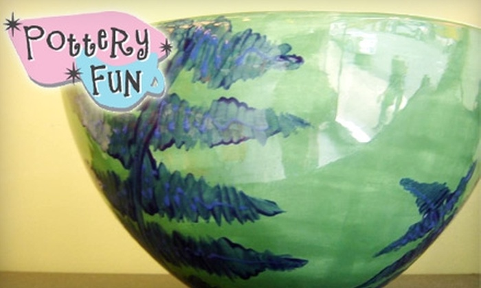PotteryFun - Montavilla: $12 for $25 Worth of Paint-Your-Own-Pottery at PotteryFun