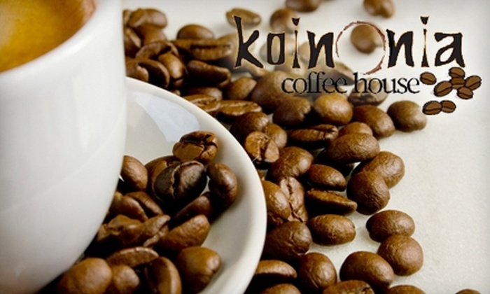 Koinonia Coffee House - Jackson: $5 for $10 Worth of Coffee, Sandwiches, and More at Koinonia Coffee House