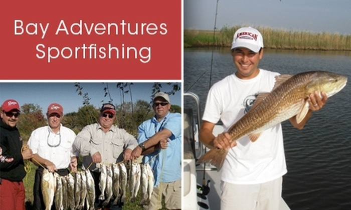 Bay Adventures Sportfishing - Baytown: $300 for an Eight-Hour Angling Tour for Three Through Bay Adventures Sportfishing