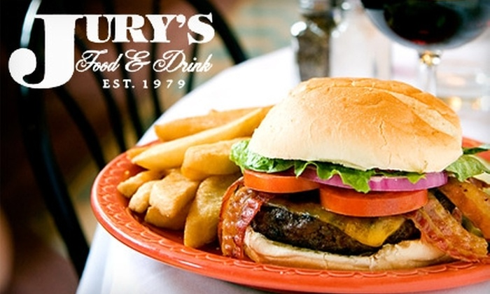 Jury's Food & Drink - Ravenswood: $10 for $20 Worth of Burgers, Drinks, and More at Jury's Food & Drink