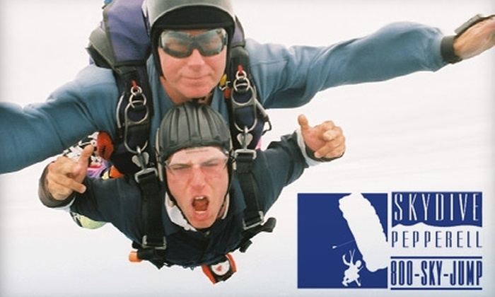Skydive Pepperell - Pepperell: $149 for a Tandem Skydive from Skydive Pepperell