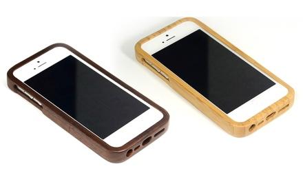 Funda de madera natural de bambú o nogal para iPhone 4/4S o 5/5s