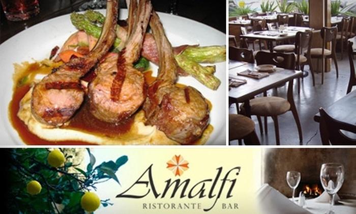 Amalfi Ristorante & Bar - Mid-Wilshire: $20 for $40 Worth of Fresh Italian Fare and Drinks at Amalfi Ristorante & Bar