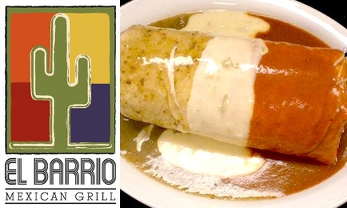 El Barrio Mexican Grill - Midtown: $10 For $20 Towards Contemporary Mexican Fare at El Barrio Mexican Grill (or $5 for $10 Towards Lunch)