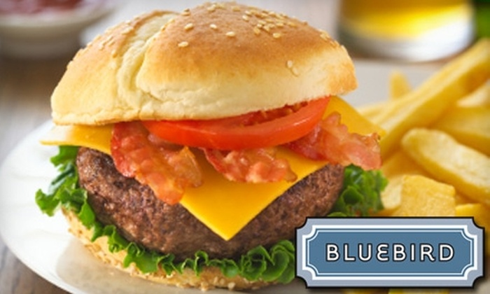 Bluebird - Mann: $5 for $10 Worth of Locally Sourced American Fare and Drinks at Bluebird