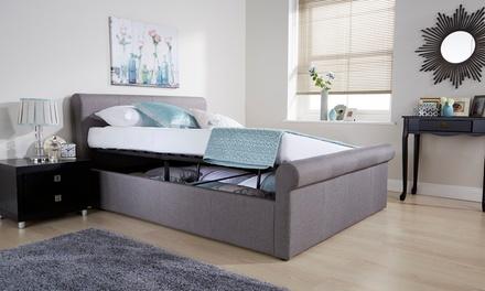 milan fabric or pu ottoman bed