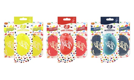 One, Two, Three or Six Jelly Belly 2D and 3D Car Air Fresheners