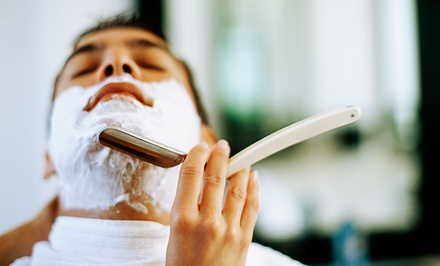 One Men's Haircut or One or Two Straight-Razor Shaves at Jim & Austin's Barber Shop (60% Off)