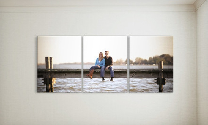 """Picture Bungalow: Three 5""""x7"""", 8""""x10"""", or 11""""x14"""" Custom Wood-Print Photos from Picture Bungalow (Up to 60% Off)"""