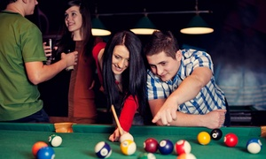 Bison Billiards: Two Hours of Pool with Drinks and Pizza for Two or Four at Bison Billiards (Up to 47% Off)
