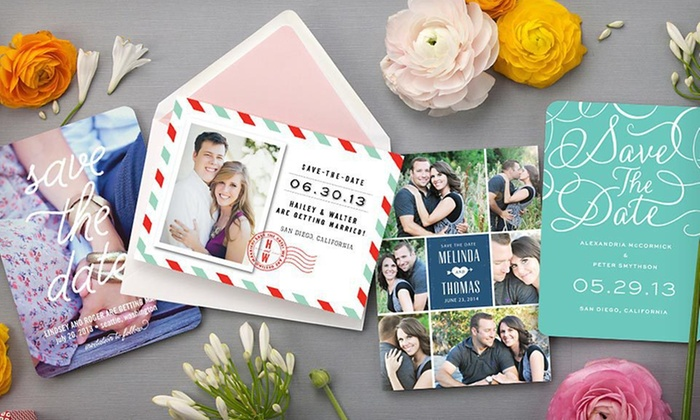 Personalized Photo Cards: Save the Date or Birth Announcement Photo Cards from MyPublisher (Up to 67% Off). Five Options Available.