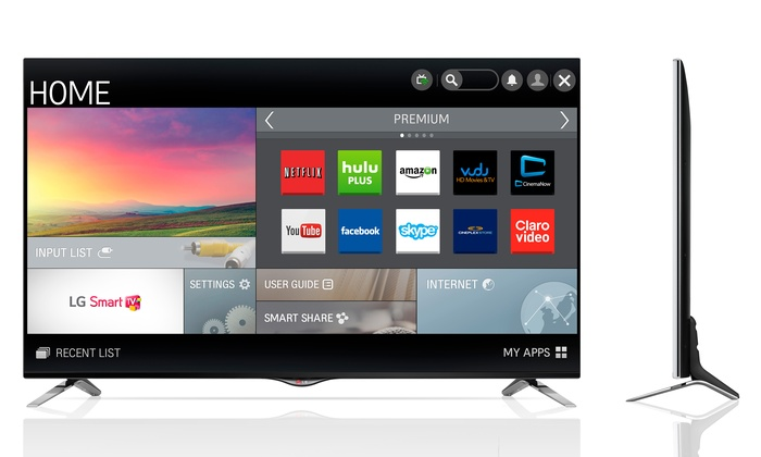 """LG 49"""", 55"""", or 60"""" UHD 4K 1080p Smart LED TV"""