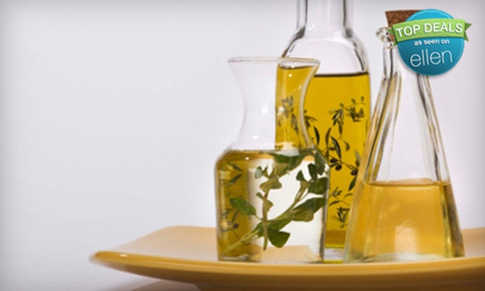 The Olive and the Grape - Multiple Locations: $30 for Sampler of Gourmet Olive Oils, Vinegars, Pastas, and Seasonings at The Olive and The Grape ($64 Value)