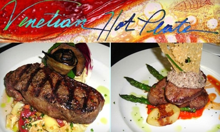 Venetian Hot Plate - Port Aransas: $20 for $40 of Italian Fare and Drinks at Venetian Hot Plate in Port Aransas