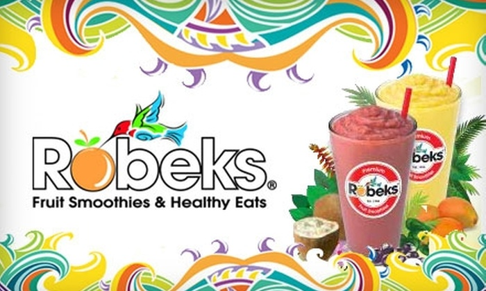 Robeks - Multiple Locations: $7 for $15 Worth of Fresh Fruit Smoothies and More at Robeks