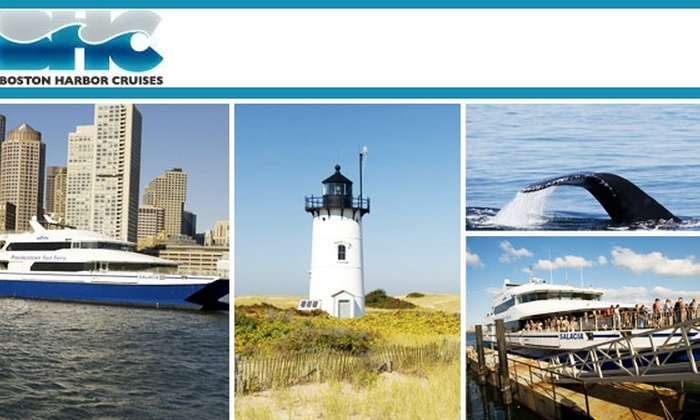 Boston Harbor Cruises - North End: $40 for an Adult Round-Trip Ferry Ticket to Cape Cod from Boston Harbor Cruises ($79 Value)
